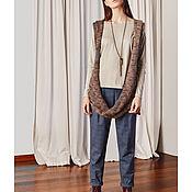 Одежда ручной работы. Ярмарка Мастеров - ручная работа Жилетка – шарфик из мохера Odri. Handmade.