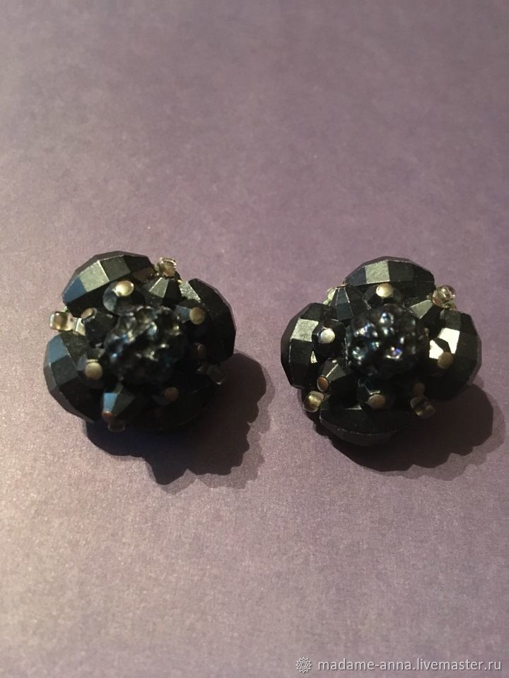 Vintage Jewelry Livemaster Handmade West Germany Clip On Earrings