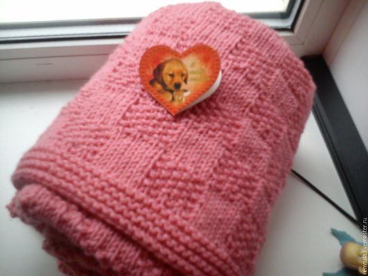 """Для новорожденных, ручной работы. Ярмарка Мастеров - ручная работа. Купить Плед детский,  плед для малыша """"Вафельный"""". Handmade. Розовый"""