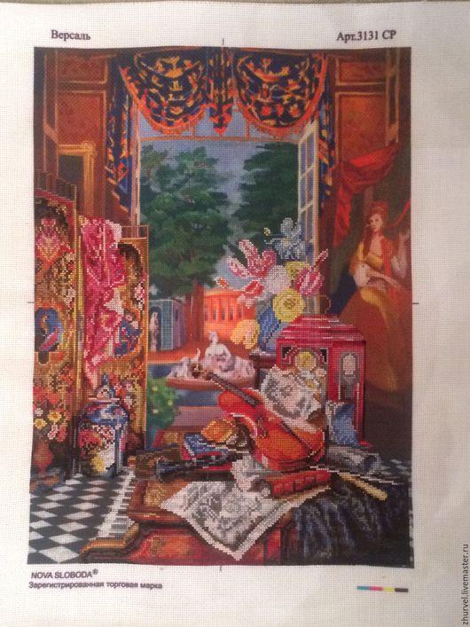 Натюрморт ручной работы. Ярмарка Мастеров - ручная работа. Купить версаль. Handmade. Желтый цвет, оранжевый коралл, синий цветок