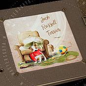 """Канцелярские товары ручной работы. Ярмарка Мастеров - ручная работа Фотоальбом """"Jack Russell Terrier"""" (джек рассел терьер). Handmade."""