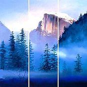 Картины и панно ручной работы. Ярмарка Мастеров - ручная работа триптих Горы. Handmade.