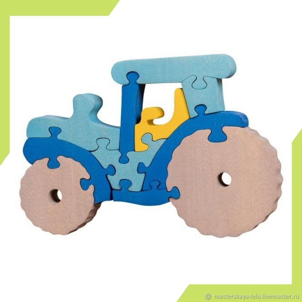 Пазл деревянный Трактор, Развивающие игрушки, Петрозаводск, Фото №1