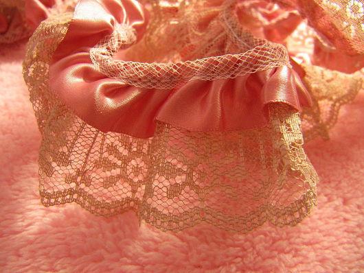 Шитье ручной работы. Ярмарка Мастеров - ручная работа. Купить Розовая сатиновая тесьма в стиле Винтаж. Handmade. Кружево