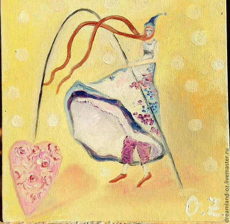 Oil painting' Silk heart', Pictures, Vladivostok,  Фото №1