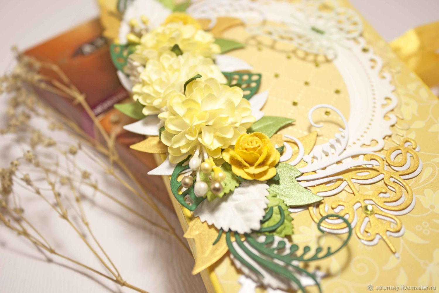 'Summer ' chocolate card for woman, yellow-green, Cards, Rostov-on-Don,  Фото №1