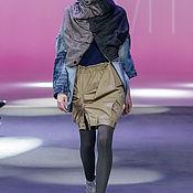 Юбки ручной работы. Ярмарка Мастеров - ручная работа Апсайкл дизайнерская юбка на резинке. Handmade.