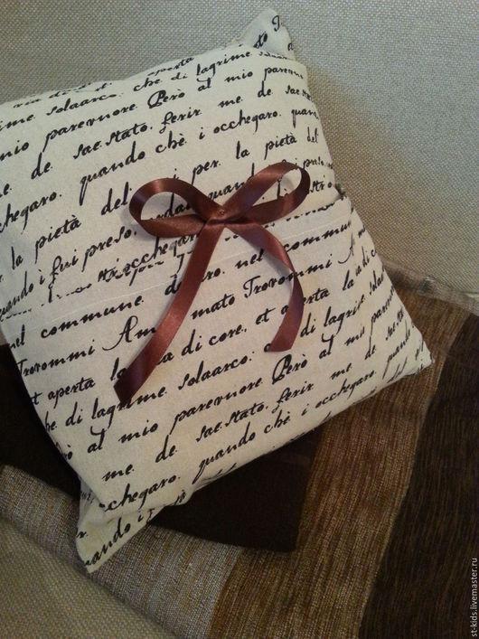 """Текстиль, ковры ручной работы. Ярмарка Мастеров - ручная работа. Купить Подушечка """" Письмо о любви"""". Handmade. Бежевый"""