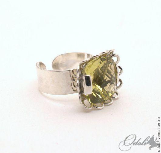 Кольца ручной работы. Ярмарка Мастеров - ручная работа. Купить Серебряное кольцо с цитрином Лимонный щербет. Handmade. Лимонный, серебряный