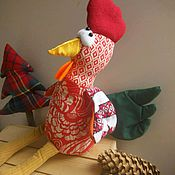 Подарки к праздникам ручной работы. Ярмарка Мастеров - ручная работа Петушок с золотым клювом приносящий деньги. Handmade.