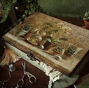 Для дома и интерьера handmade. Livemaster - original item Box for needlework Handmade happiness. Box decoupage. Handmade.