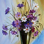 "Картины и панно handmade. Livemaster - original item ""Bouquet of cosmos"" oil Painting flowers in a vase. Handmade."