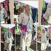 Одежда handmade. Livemaster - original item Shirt hooded linen boho stylized. Handmade.