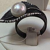 Кольца ручной работы. Ярмарка Мастеров - ручная работа Кольцо 18 р.из серебра вес 8,70 г с жемчугом. Handmade.