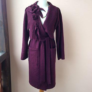 Одежда ручной работы. Ярмарка Мастеров - ручная работа Пальто из лодена ,вареная шерсть. Handmade.
