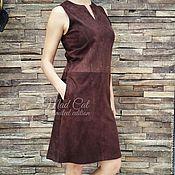 Одежда handmade. Livemaster - original item Dress made of suede. Handmade.