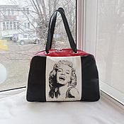 handmade. Livemaster - original item Bag leather double-sided with painting to order for Julia.. Handmade.