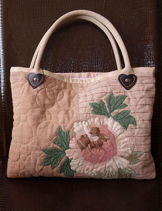 Женские сумки ручной работы. Ярмарка Мастеров - ручная работа. Купить Текстильная сумка. Handmade. Бледно-розовый