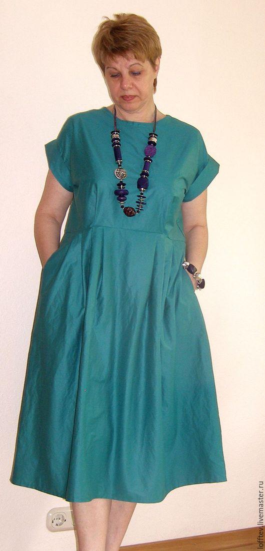Платья ручной работы. Ярмарка Мастеров - ручная работа. Купить Платье летнее хлопок Бохо. Handmade. Тёмно-бирюзовый