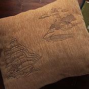 """Подушки ручной работы. Ярмарка Мастеров - ручная работа Подушка """"Морские зарисовки"""". Handmade."""