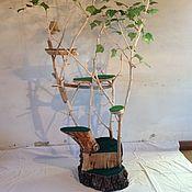 Для домашних животных, ручной работы. Ярмарка Мастеров - ручная работа Дерево для кошек с когтеточками. Handmade.