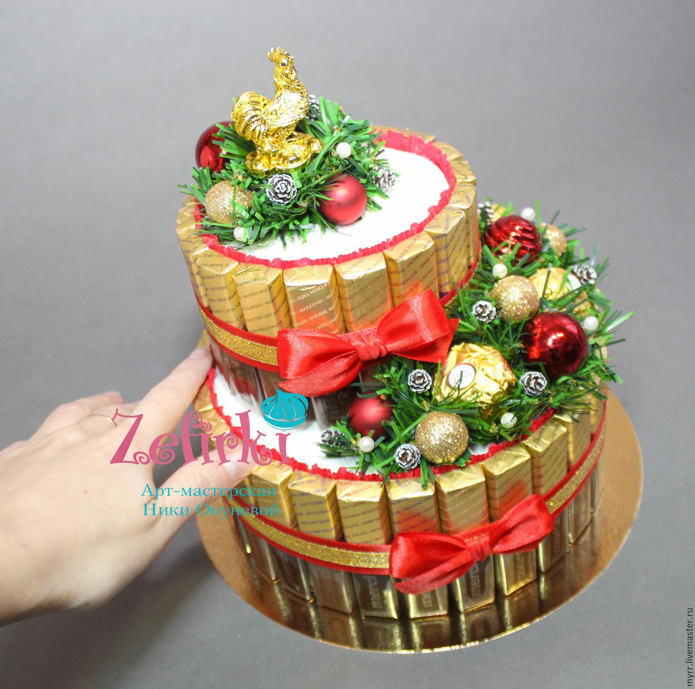 Поделки из конфет на новый год своими руками