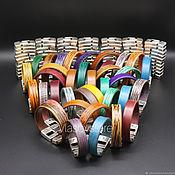 Комплект браслетов ручной работы. Ярмарка Мастеров - ручная работа Кожаные браслеты ручная работа. Handmade.