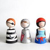 Куклы и игрушки ручной работы. Ярмарка Мастеров - ручная работа деревянные человечки-2. Handmade.