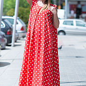 Одежда handmade. Livemaster - original item Dress, Long dress, polka dot Dress, Summer dress. Handmade.