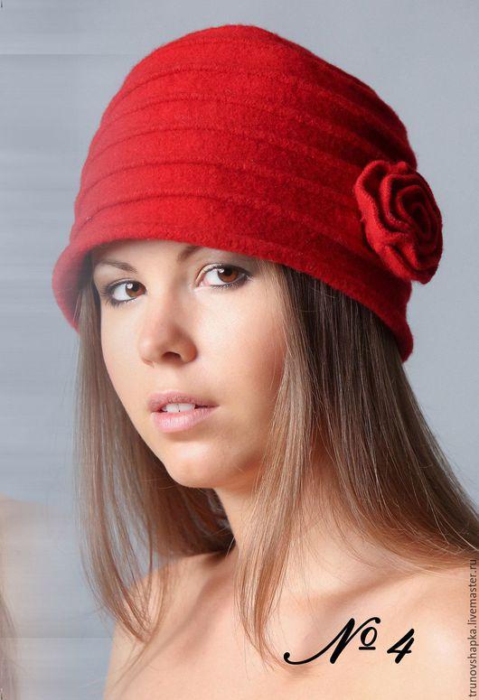 Шапки ручной работы. Ярмарка Мастеров - ручная работа. Купить Женская шапочка СТИЛЬ. Handmade. Ярко-красный, шапка зимняя