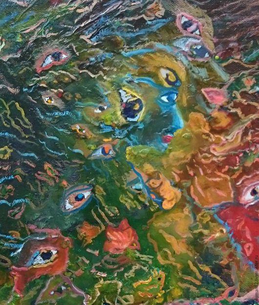 """Абстракция ручной работы. Ярмарка Мастеров - ручная работа. Купить Картина маслом """"Суета сует"""", авторская. картина. абстракция. Handmade."""
