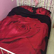 """Комплекты постельного белья ручной работы. Ярмарка Мастеров - ручная работа Комплект """"Роза 3D"""", сатин (100% хлопок). Handmade."""