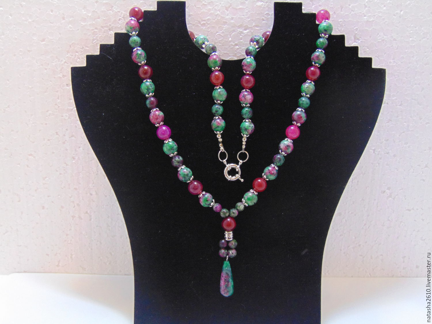 Beads from natural stones 'Spring', Necklace, Velikiy Novgorod,  Фото №1