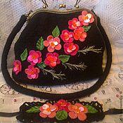 Валяная сумка Сакура