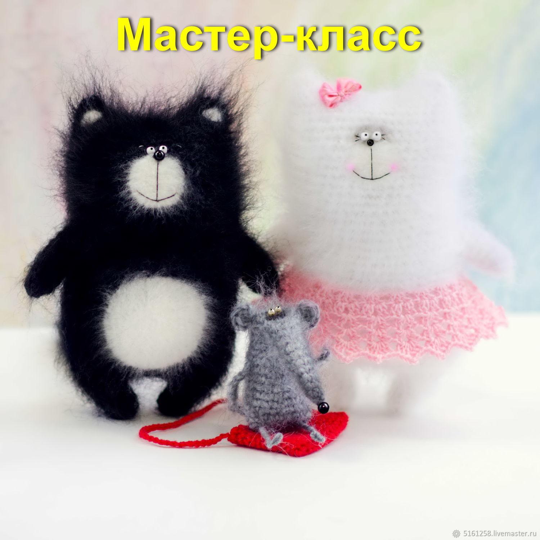 Вязанные котов спицами схемы и описание