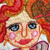 Работы для детей, ручной работы. Ярмарка Мастеров - ручная работа вышивка! Платье для девочки! (продано). Handmade.