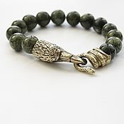 Украшения handmade. Livemaster - original item Buy a bracelet - serpentine Ural Raven. Handmade.