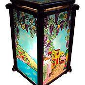 Для дома и интерьера handmade. Livemaster - original item Stained glass lamp Grape motifs. Handmade.