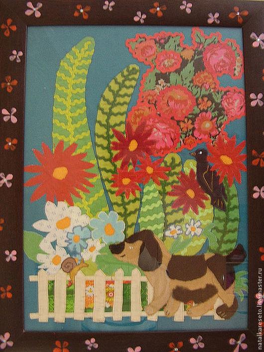 Животные ручной работы. Ярмарка Мастеров - ручная работа. Купить Веселый сад. Handmade. Картина в подарок, картина в детскую, картина