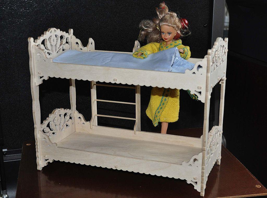 Как сделать для барби двухэтажную кровать