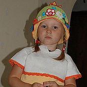Работы для детей, ручной работы. Ярмарка Мастеров - ручная работа комплект РАДОСТЬ (кофта, юбка, панамка). Handmade.
