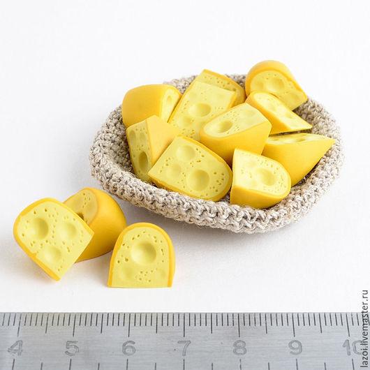 Еда ручной работы. Ярмарка Мастеров - ручная работа. Купить Сыр. Handmade. Желтый, сыр, кукольная миниатюра, кукольная еда
