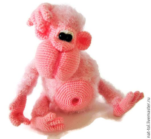 Игрушки животные, ручной работы. Ярмарка Мастеров - ручная работа. Купить Игрушка вязаная крючком обезьянка бибизянка розовая. Handmade.