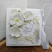 Открытки ручной работы. Ярмарка Мастеров - ручная работа Свадебная коробочка для денег Белый снег. Handmade.