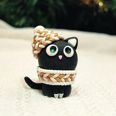 Подарки к праздникам ручной работы. Ярмарка Мастеров - ручная работа Кошка из полимерной глины. Handmade.