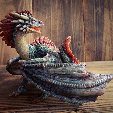 Куклы и игрушки ручной работы. Ярмарка Мастеров - ручная работа Фигурка дракона. Handmade.