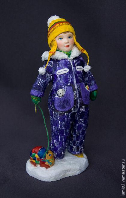 """Коллекционные куклы ручной работы. Ярмарка Мастеров - ручная работа. Купить Художественная кукла """"Малыш на прогулке"""". Handmade. Мальчик, вата"""