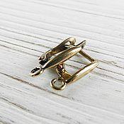 Материалы для творчества handmade. Livemaster - original item Earrings with locking bronze brass (art. 2638). Handmade.