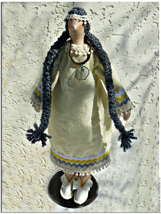 Куклы Тильды ручной работы. Ярмарка Мастеров - ручная работа. Купить Кукла в стиле Тильда Индианка. Handmade. Желтый, тильды