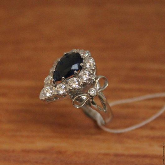 Кольца ручной работы. Ярмарка Мастеров - ручная работа. Купить Серебряное кольцо Империал, серебро 925. Handmade. Тёмно-синий
